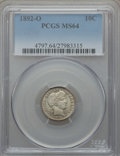 Barber Dimes: , 1892-O 10C MS64 PCGS. PCGS Population (58/27). NGC Census: (62/22).Mintage: 3,841,700. Numismedia Wsl. Price for problem f...