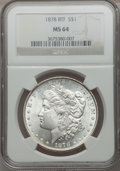 Morgan Dollars: , 1878 8TF $1 MS64 NGC. NGC Census: (1972/392). PCGS Population(2483/557). Mintage: 699,300. Numismedia Wsl. Price for probl...