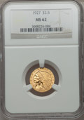 Indian Quarter Eagles: , 1927 $2 1/2 MS62 NGC. NGC Census: (5045/6734). PCGS Population(2674/5128). Mintage: 388,000. Numismedia Wsl. Price for pro...