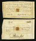 Colonial Notes:Connecticut, Connecticut £37 2s Hand-written Amount February 1, 1789 Anderson CT26. Connecticut 11s 6d Hand-written Amount November 14, 17...(Total: 2 notes)