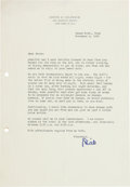Movie/TV Memorabilia:Autographs and Signed Items, An Orson Welles-Received Letter from David O. Selznick, 1952....