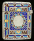 Silver Smalls:Match Safes, A GORHAM SILVER, SILVER GILT AND ENAMEL MATCH SAFE . GorhamManufacturing Co., Providence, Rhode Island, circa 1913. Marks: ...