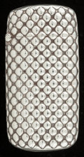 Silver Smalls:Match Safes, A TIFFANY & CO. SILVER MATCH SAFE . Tiffany & Co., NewYork, New York, circa 1900. Marks: TIFFANY & CO.,STERLING-F. 2-1...
