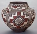 American Indian Art:Pottery, A LAGUNA POLYCHROME STORAGE JAR. Arroh-ah-och. c. 1895...