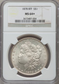 Morgan Dollars: , 1878 8TF $1 MS64+ NGC. NGC Census: (1973/392). PCGS Population(2483/556). Mintage: 699,300. Numismedia Wsl. Price for prob...