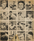 Baseball Cards:Sets, 1948 Bowman Baseball Uncut Panel (16 Cards) With Musial, Spahn and Berra. ...