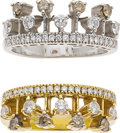 Estate Jewelry:Rings, Colored Diamond, Diamond, Gold Rings. ... (Total: 2 Items)