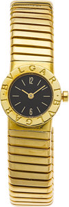 Estate Jewelry:Watches, Bvlgari Lady's Gold Tubogas Wristwatch. ...