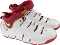 Basketball Collectibles:Others, 2006-07 LeBron James Game Worn, Signed Shoes....