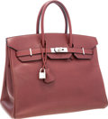 Luxury Accessories:Bags, Hermes 35cm Rouge H Vache Liegee Leather Birkin Bag with PalladiumHardware. ...
