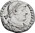 Ancients:Roman Imperial, Ancients: Valentinian I (AD 364-375). AR light miliarense (23mm,3.36 gm, 6h). ...