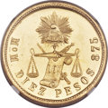 Mexico, Mexico: Republic gold 10 Pesos 1902 Mo-M,...
