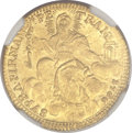 Italy:Papal States, Italy: Papal States. Clement XIII gold Zecchino 1766,...