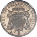 Italy:Papal States, Italy: Papal States. Sede Vacante Scudo 1846-R,...