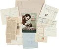 "Movie/TV Memorabilia:Documents, An Orson Welles Collection of Documents Related to ""Othello,"" Circa1950s...."