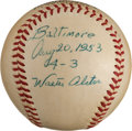 Autographs:Baseballs, 1953 Walt Alston Single Signed Game Used Baseball....