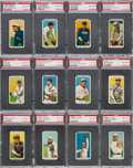Baseball Cards:Lots, 1909-11 T206 White Border PSA EX-MT 6 Collection (12). ...