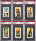 Baseball Cards:Lots, 1909-11 T206 White Border PSA EX 5 Collection (6) With Five HoFers,One Overprint! ...