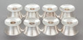Silver Smalls:Other , A SET OF EIGHT GORHAM SILVER CANDLESTICKS. Gorham ManufacturingCo., Providence, Rhode Island, mid-20th century. Marks: G...(Total: 8 Items)