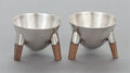 Other, A PAIR OF WILLIAM SPRATLING MEXICAN SILVER OPEN SALTS. WilliamSpratling, Taxco, Mexico, circa 1965. Marks: WILLIAM SPRATL...(Total: 2 Items)