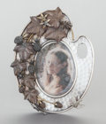 Silver Smalls:Other , A MERIDEN SILVER-PLATED FRAME. Meriden Silver Plate Co., Meriden,Connecticut, circa 1890. Marks: MERIDEN SILVER PLATE CO....