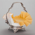 Other:American, A WILCOX SILVER-PLATED BRIDES BASKET . Wilcox Silver Plate Co.,Meriden, Connecticut, circa 1880. Marks: WILCOX SILVERPLA...
