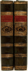 Books:Fine Bindings & Library Sets, [Richard Chambers, editor]. Cyclopaedia of English Literature. London: Chambers, 1858. Two large octavo volumes.... (Total: 2 Items)