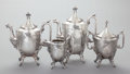 Silver Holloware, American:Tea Sets, A FOUR PIECE REED AND BARTON SILVER-PLATED TEA SERVICE. Reed & Barton, Taunton, Massachusetts, circa 1871. Marks to coffee p... (Total: 4 Items)