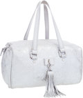Luxury Accessories:Bags, Louis Vuitton Limited Edition Silver Monogram Shimmer LeatherComete Shoulder Bag . ...