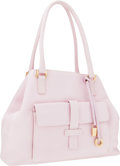 Luxury Accessories:Bags, Loro Piana Pastel Pink Leather Globe Tote Bag with Gold Hardware....