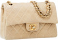 Luxury Accessories:Bags, Chanel Beige Quilted Lambskin Leather Double Flap Bag with GoldHardware. ...