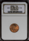 Lincoln Cents: , 1983 1C Doubled Die Reverse MS63 Red and Brown NGC. FS-036. NGCCensus: (0/0). PCGS Population (26/55). (#3055)...