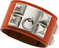 Luxury Accessories:Accessories, Hermes Mangue Swift Leather Collier de Chien Bracelet withPalladium Hardware. ...