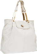 Luxury Accessories:Bags, Stella McCartney Cream Vegan Leather Shoulder Bag with Brushed GoldDetail. ...