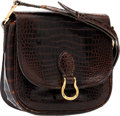 Luxury Accessories:Bags, Louis Vuitton Shiny Brown Crocodile St Cloud Crossbody Bag. ...