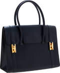 Luxury Accessories:Bags, Hermes 26cm Indigo Calf Box Leather Drag Bag with Gold Hardware....