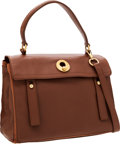 Luxury Accessories:Bags, Yves Saint Laurent Brown Leather Muse 2 Bag with Shoulder Strap....