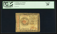 Continental Currency January 14, 1779 $4 PCGS Very Fine 20