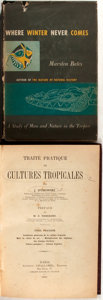 Books:Natural History Books & Prints, Pair of Books on Life in the Tropics. Includes Cultures Tropicales and Where Winter Never Comes. 1902 and 1952. ... (Total: 2 Items)