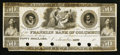 Obsoletes By State:Ohio, Columbus, OH- The Franklin Bank of Columbus $50 Remainder G60 Wolka0863-33 Proof. ...