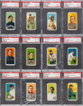 Baseball Cards:Lots, 1909-11 T206 White Border Baseball PSA Graded Collection (12) -Almost All Hall Of Famers....