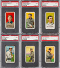 Baseball Cards:Lots, 1909-11 T206 White Border Hall Of Famers PSA EX 5 Collection (6)With Old Mill M. Brown. ...