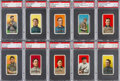 Baseball Cards:Lots, 1909-11 T206 White Border Hall of Famers PSA Collection (10) WithScarce Factory 42 Overprint. ...