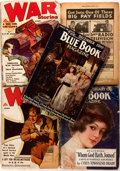 Books:Periodicals, Group of Two Blue Book Magazine and Three War StoriesIssues. Various publishers, 1916-1932.... (Total: 5 Items)