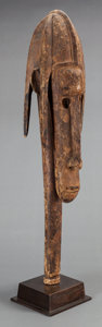 Tribal Art, Bamana (Mali, Western Africa). Human head puppet. Wood. Height: 32inches. ...