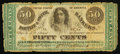 Obsoletes By State:Ohio, Columbus, OH- Wm. H. Restieaux at Bartlit & Smith Bankers 50¢Dec. 10, 1862 Wolka 0885-04. ...