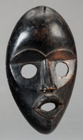 Tribal Art, Dan (Liberia or Côte d'Ivoire, Western Africa). Face mask. Wood.Height: 8-1/4 inches. ...