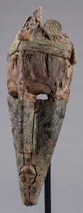 Tribal Art, Marka (Mali, Western Africa). Face masks (pair). Wood and metal.Height: 12 inches (largest). ... (Total: 2 Items)