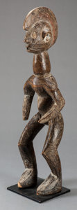 Tribal Art, Chamba (Nigeria or Cameroon, Western Africa). Figure. Wood. Height:21-1/4 inches. ...