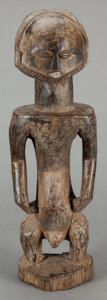 Tribal Art, Hemba (Democratic Republic of the Congo, Central Africa).Singiti male figure. Wood. Height: 21-1/4 inches. ...